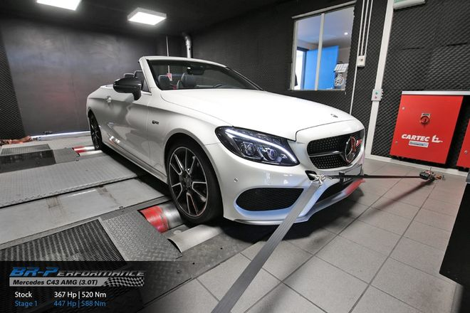 Mercedes C W205 43 AMG (3 0T) stage 1 - BR-Performance